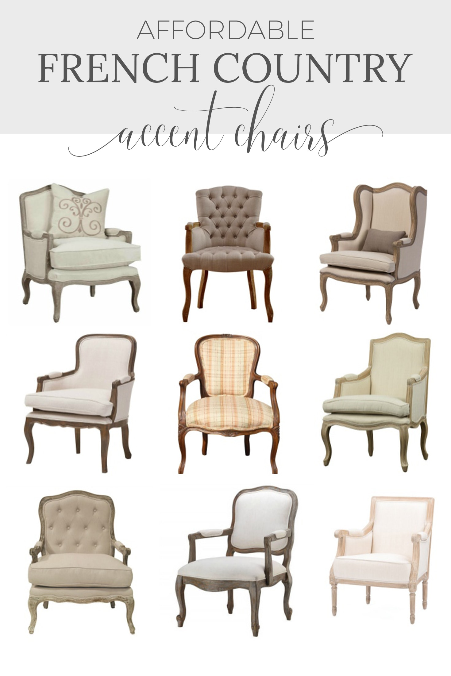 French Country Accent Chairs