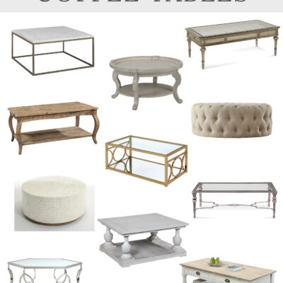 Vintage Inspired Style: 12 Affordable Stylish Coffee Tables