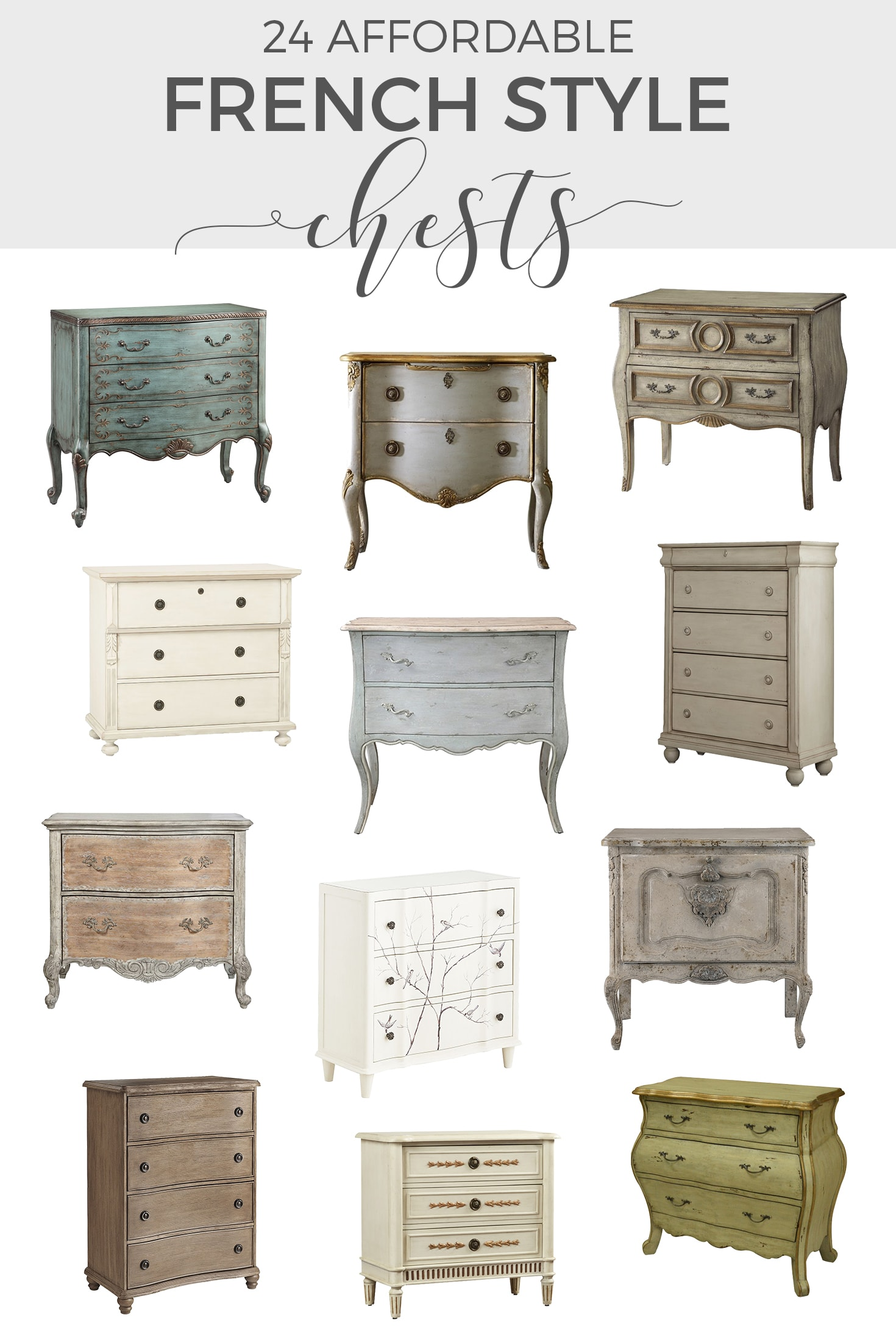 Affordable French Style Chests of Drawers