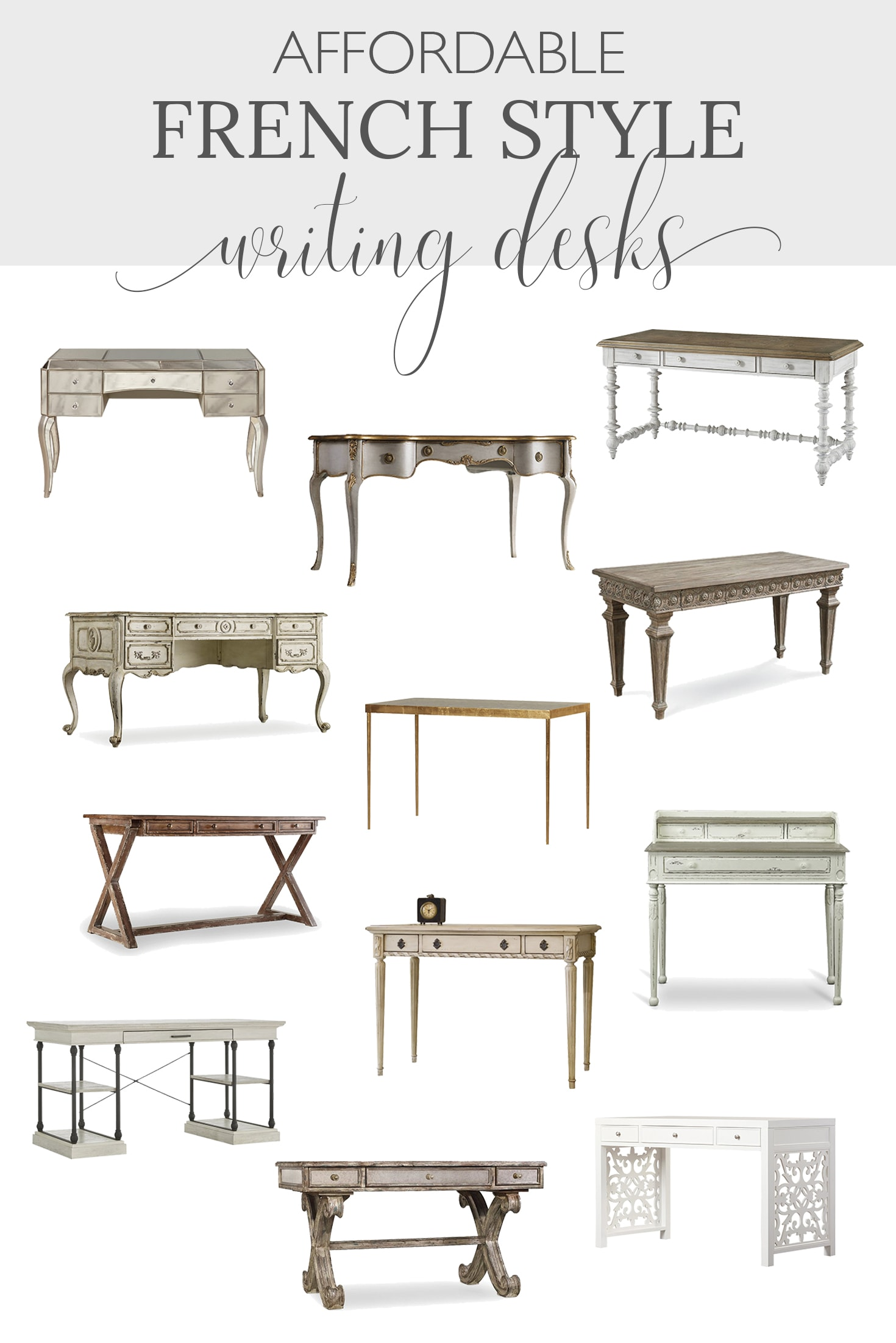 Affordable French Style Writing Desks
