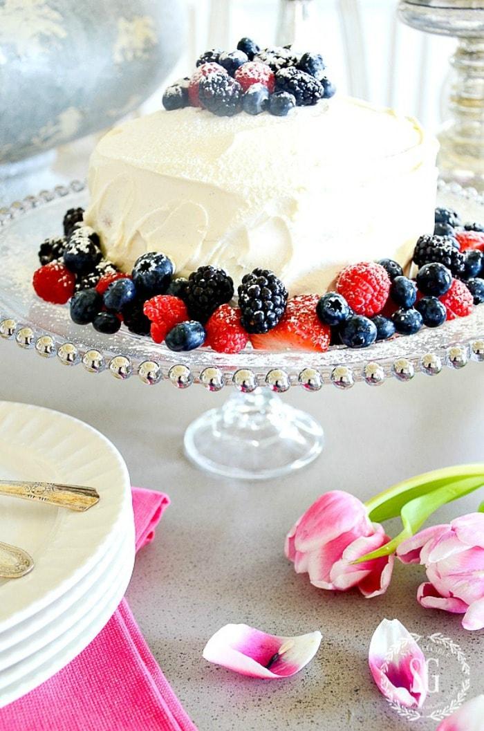 CAKE PEDESTAL DIY StoneGable