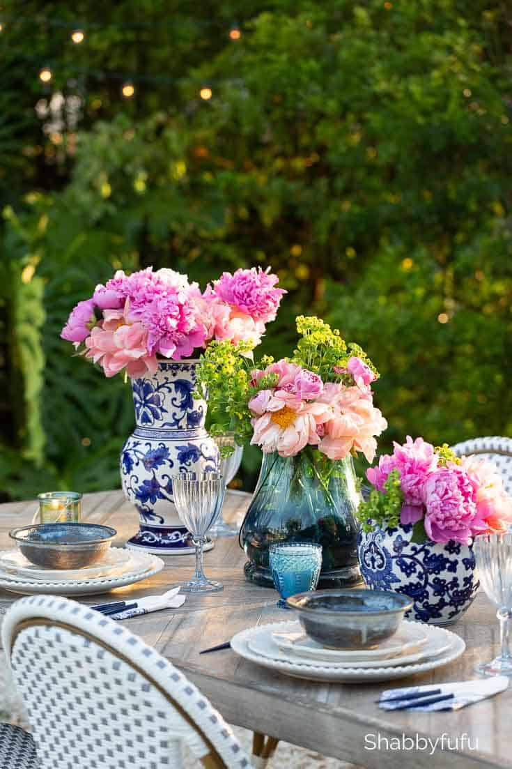 Easy Outdoor Summer Table Setting Ideas shabbyfufu