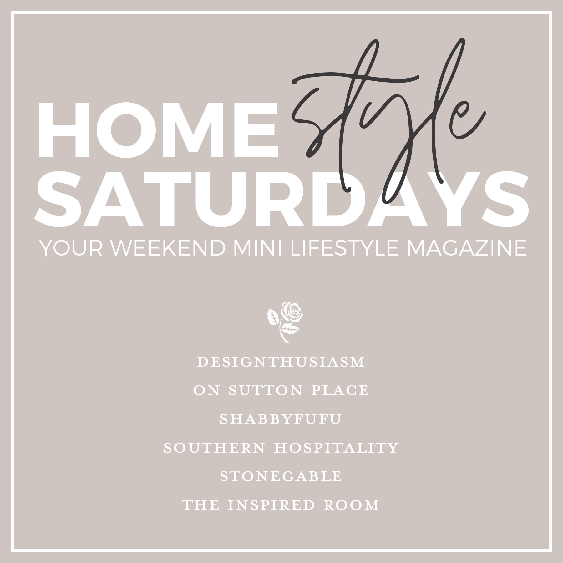 Home Style Saturdays + Giveaway