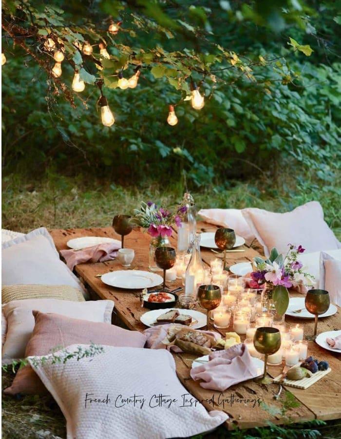 backyard glamping
