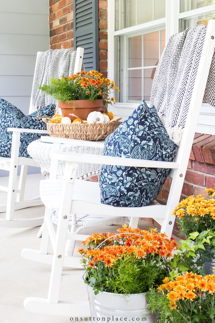 Fall Porch Decorating from On Sutton Place