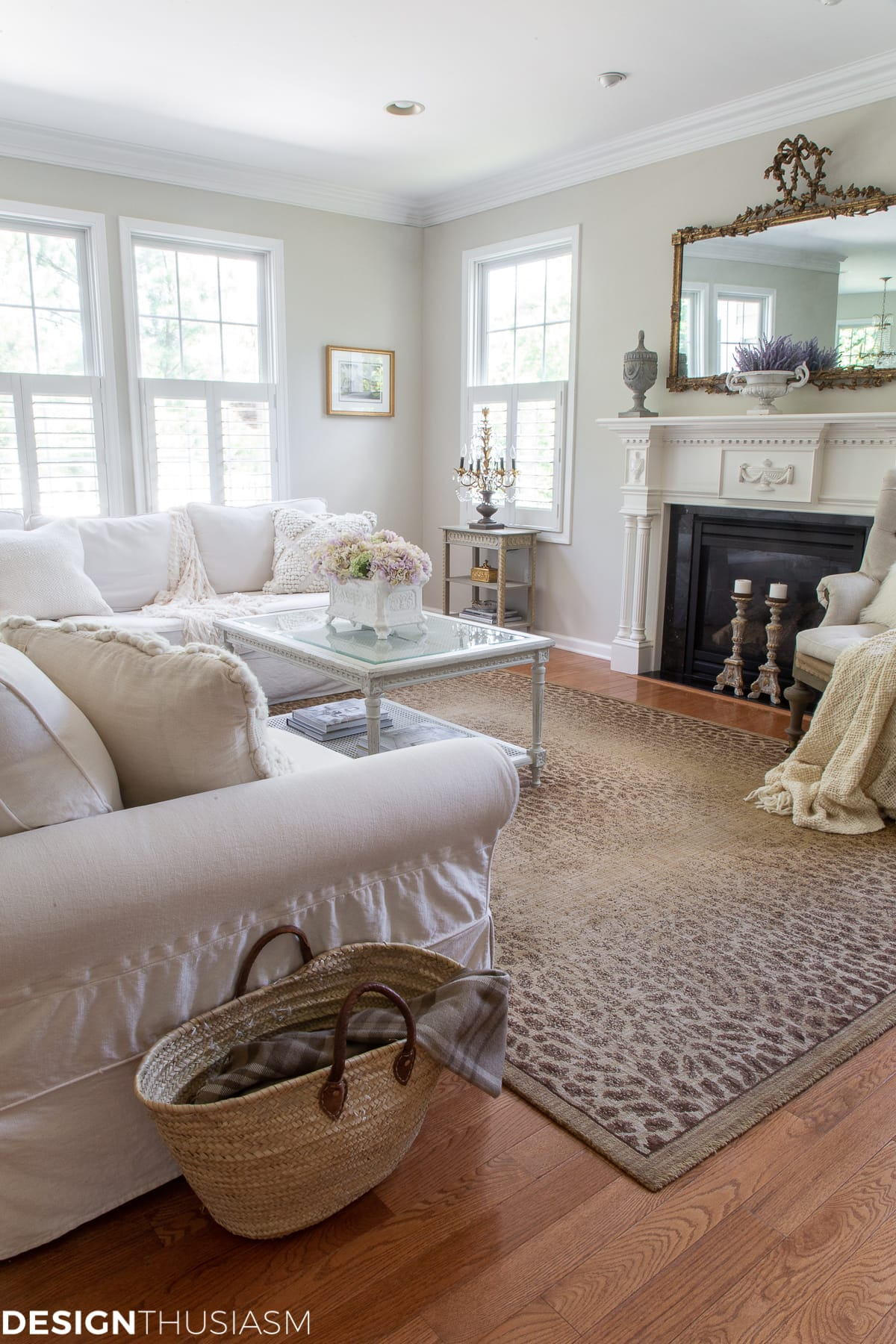 french inspired family room