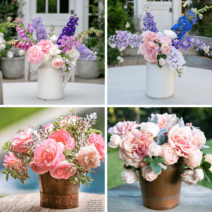 Summer Flower Arrangements-Fresh vs. Faux
