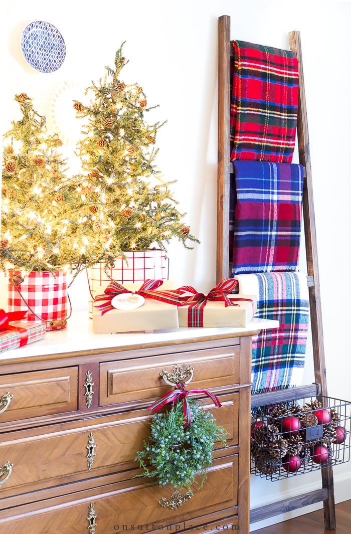 Tartan Plaid Christmas Decor from On Sutton Place