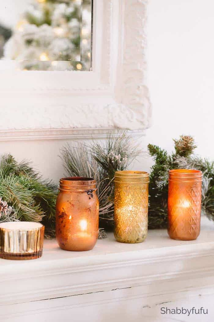 copper and gold mason jar DIY shabbyfufu
