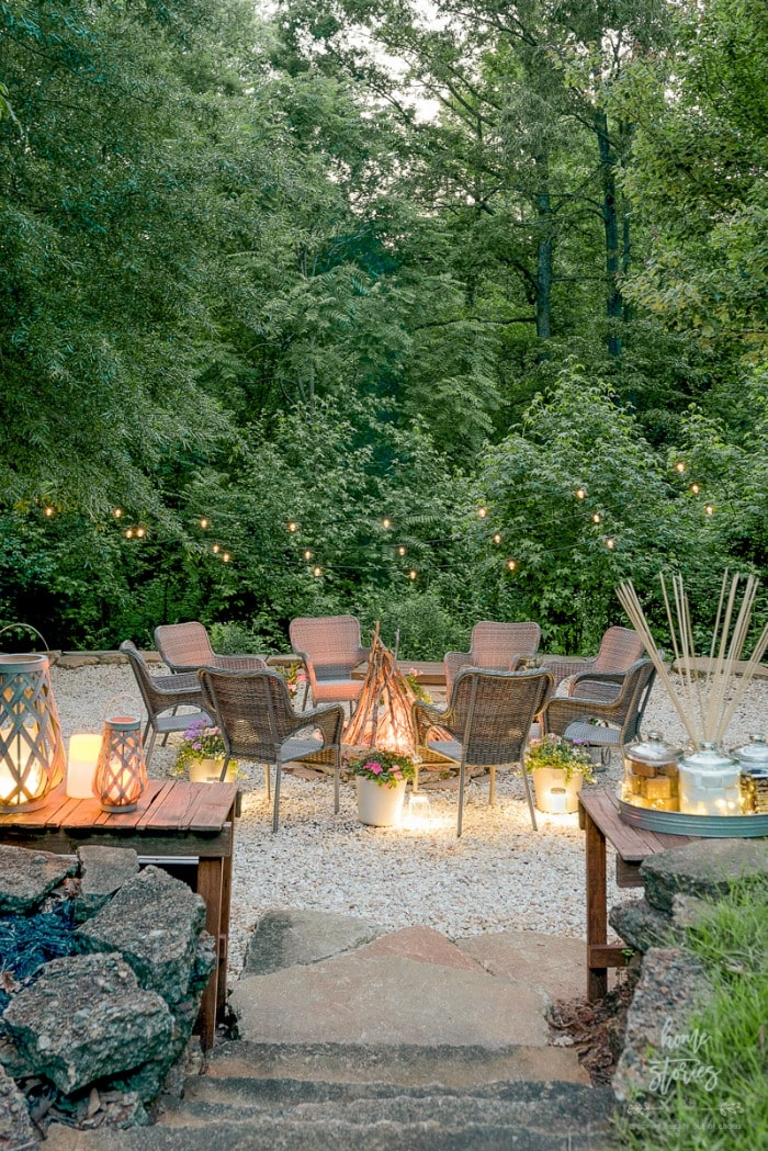 gravel fire pit Home Stories