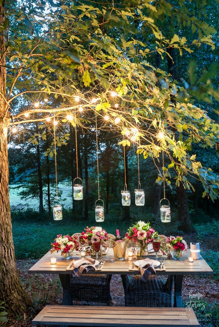 outdoor table setting Home Stories
