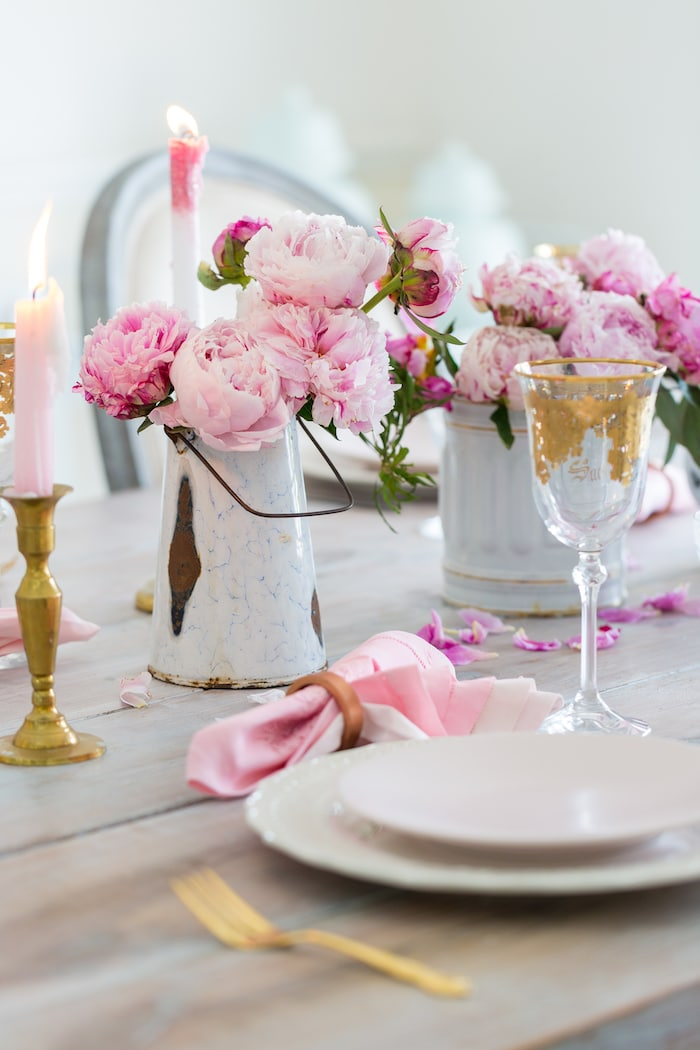 setting a table for two vintage french style