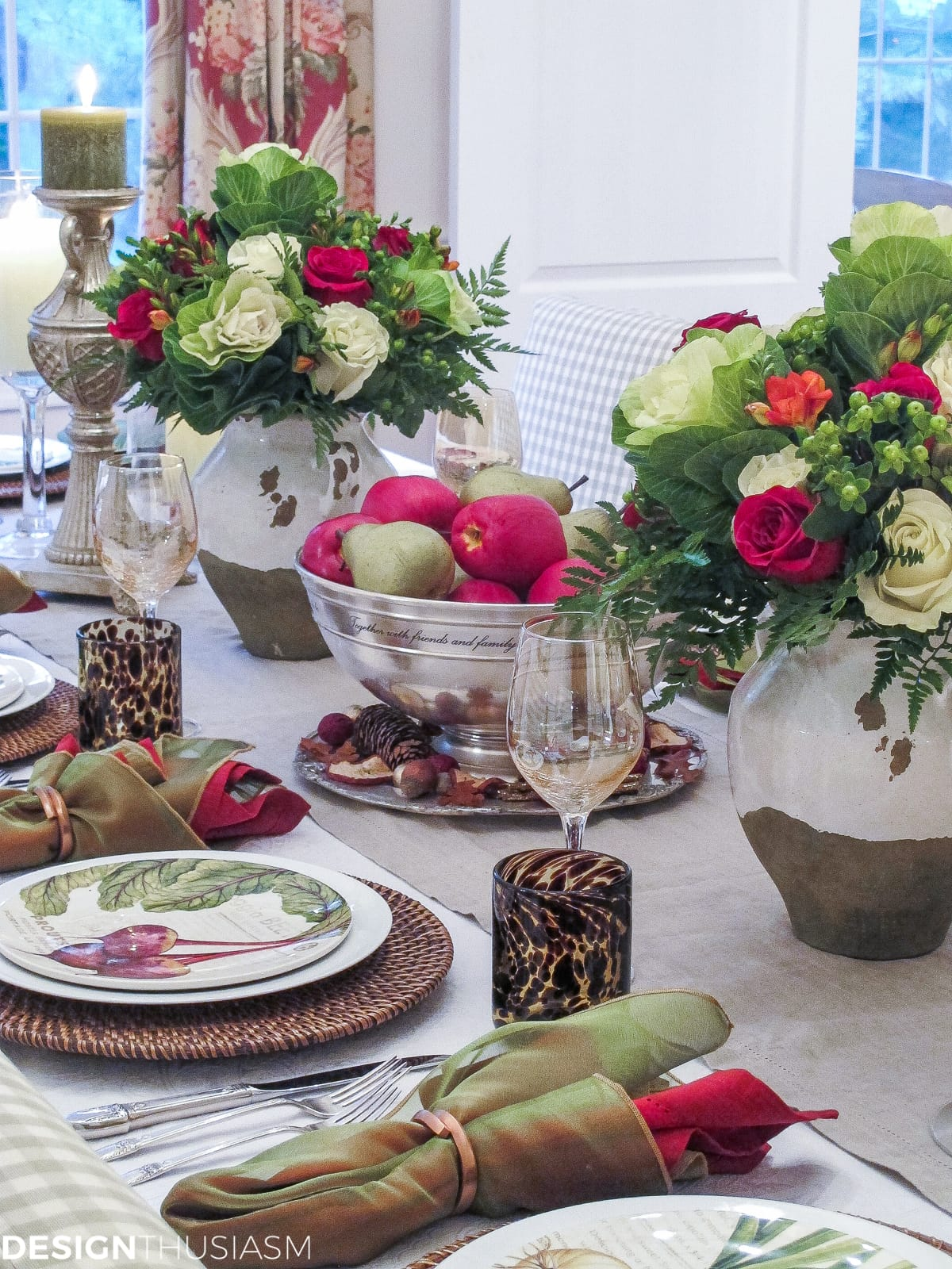 Early Fall Tablescape from Designthusiasm