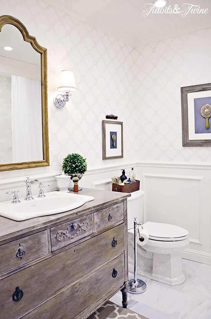 An 80s Bathroom Gets a French Country Makeover