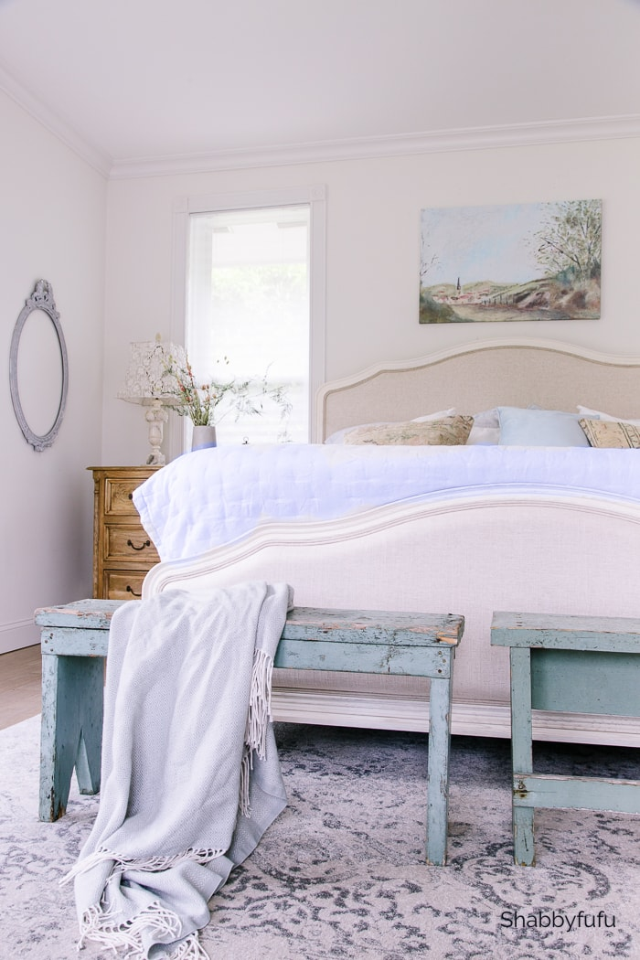 Shabbyfufu French farmhouse fall bedroom