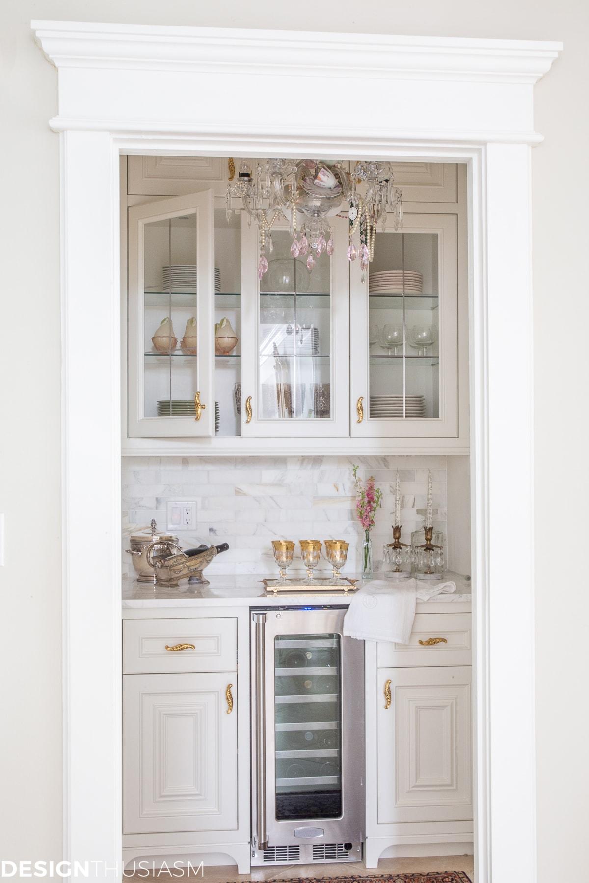 empty nester butler's pantry
