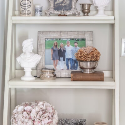 Shelf Decorating Ideas: Adding Personal Style to a Tiny Back Entry Foyer