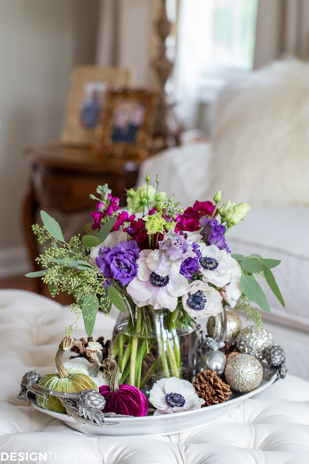 floral with seasonal decorations
