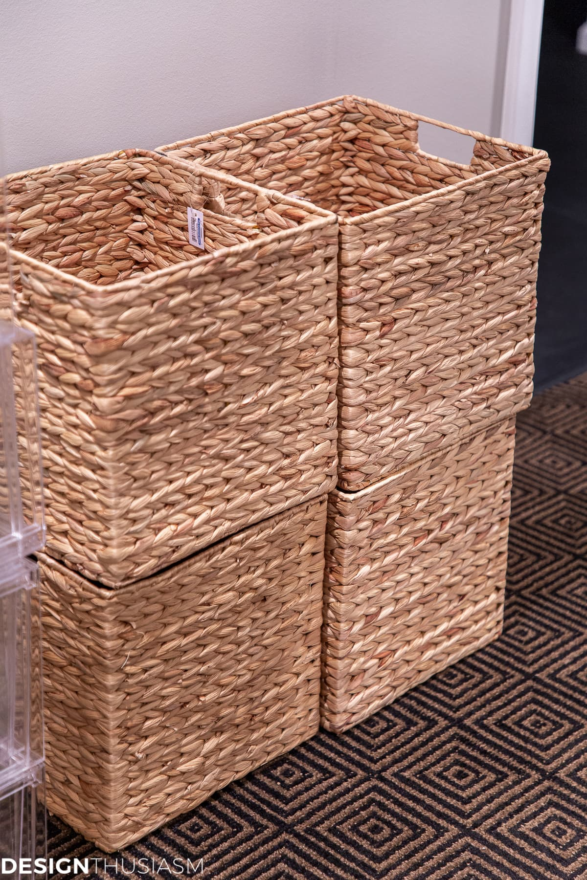 seasonal storage closet floor bins