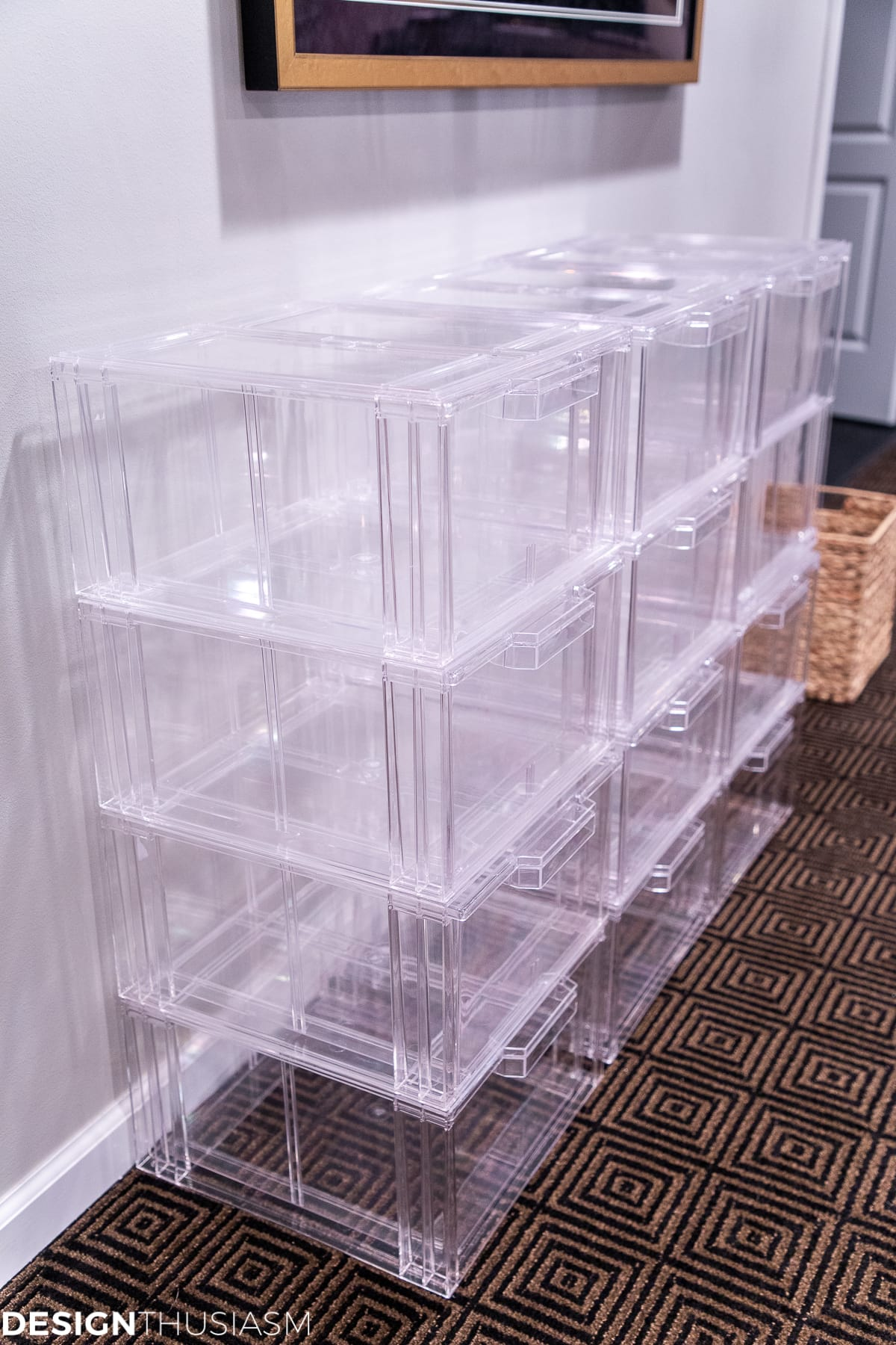 seasonal storage closet pull out drawers