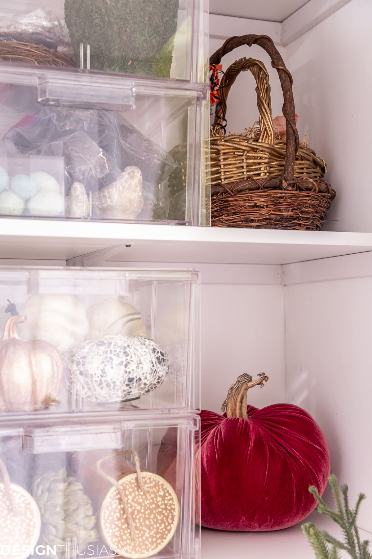 seasonal storage closet corner