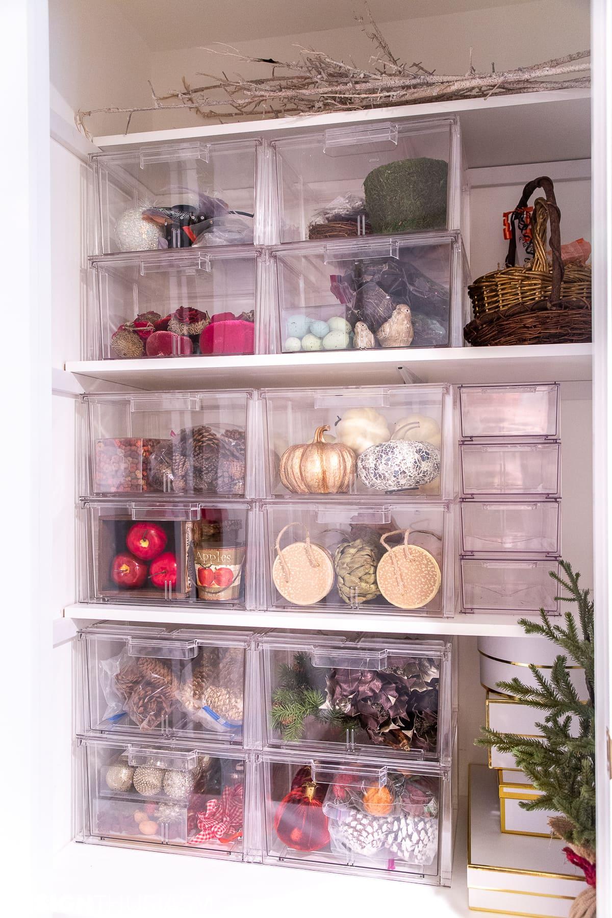 seasonal storage closet makeover
