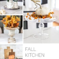 autumn decorations in the kitchen