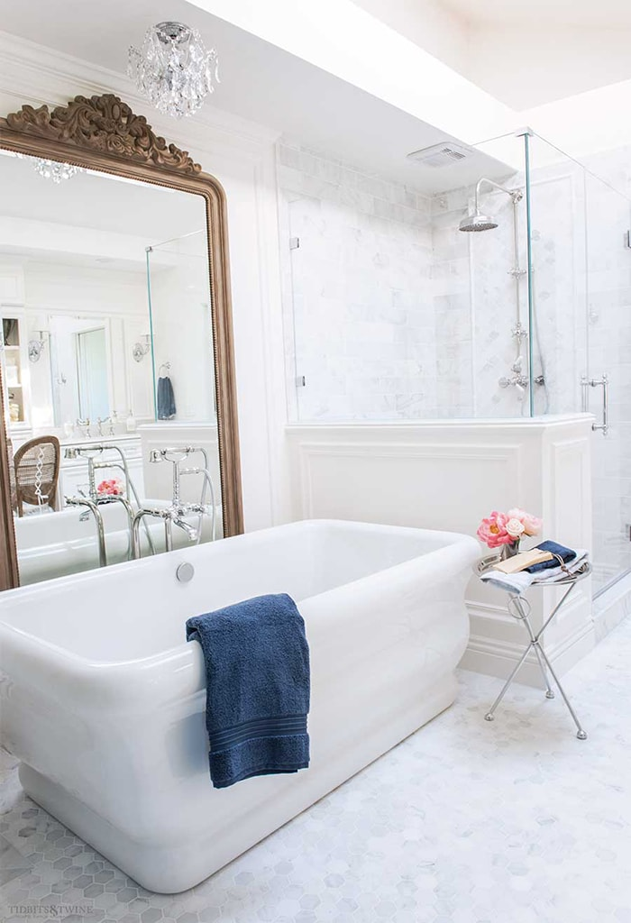 A Dramatic Before & After - My French Bathroom Makeover