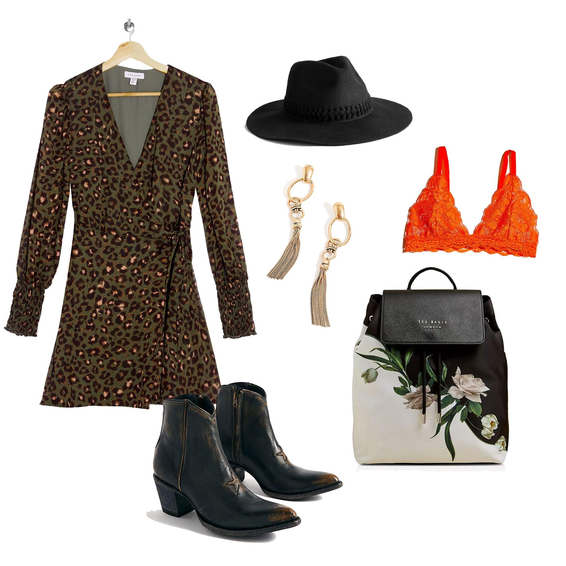 roupa de estampa animal de outono