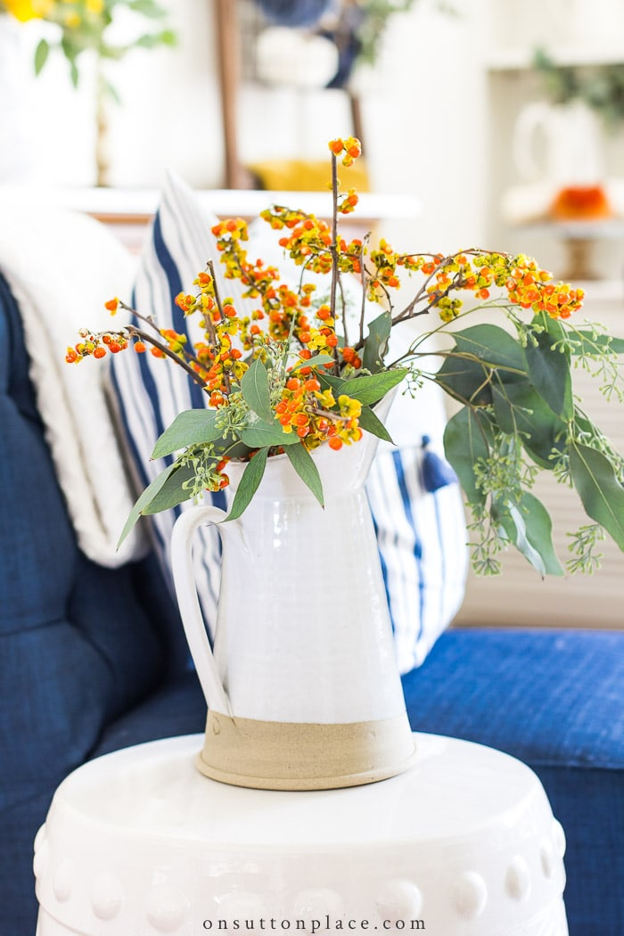 Easy Fall Living Room Decor from On Sutton Place