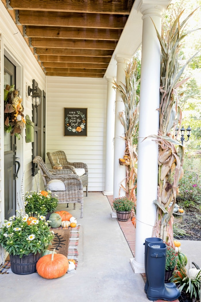Home Stories Traditional Fall Porch