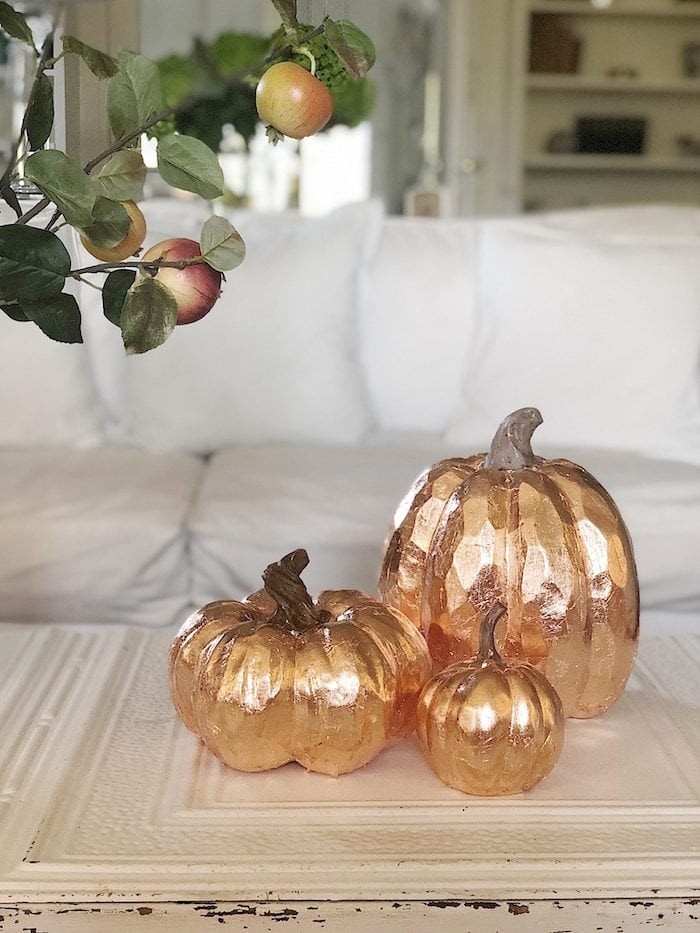 How to Make Copper Leaf Pumpkins