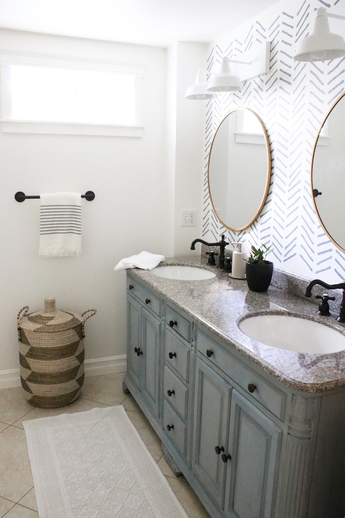 diy-bathroom-makeover-vanity-stencil