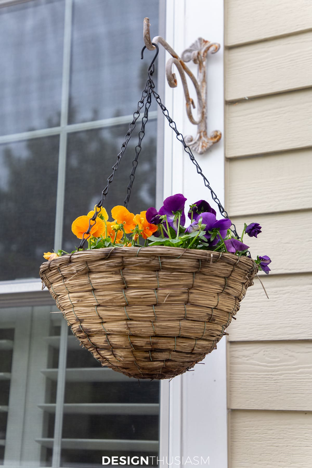 fall hanging basket