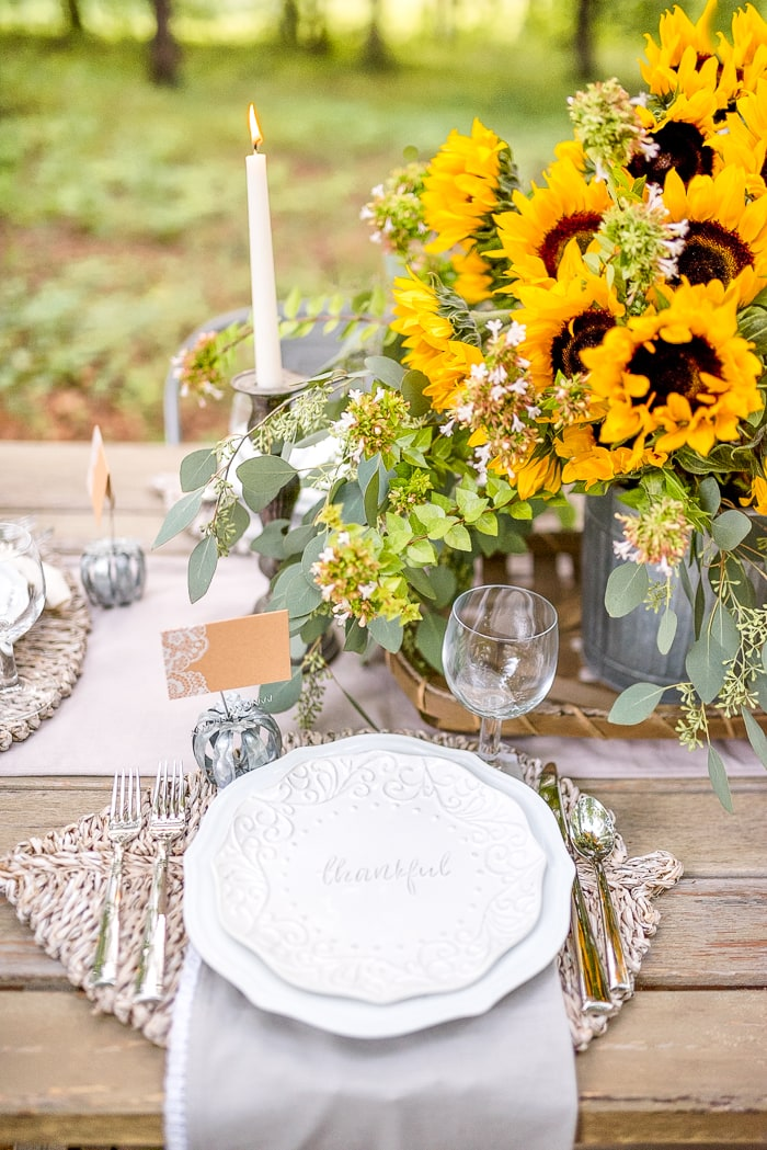 traditional outdoor fall table