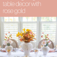 Rose gold Thanksgiving tablescape