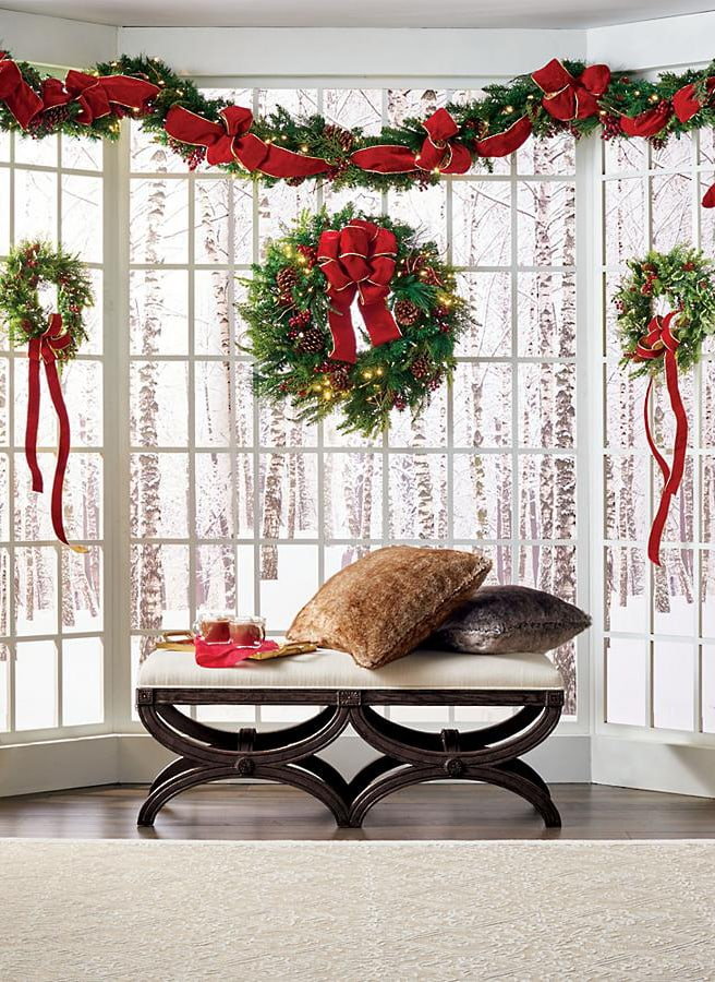Christmas wreaths and swags