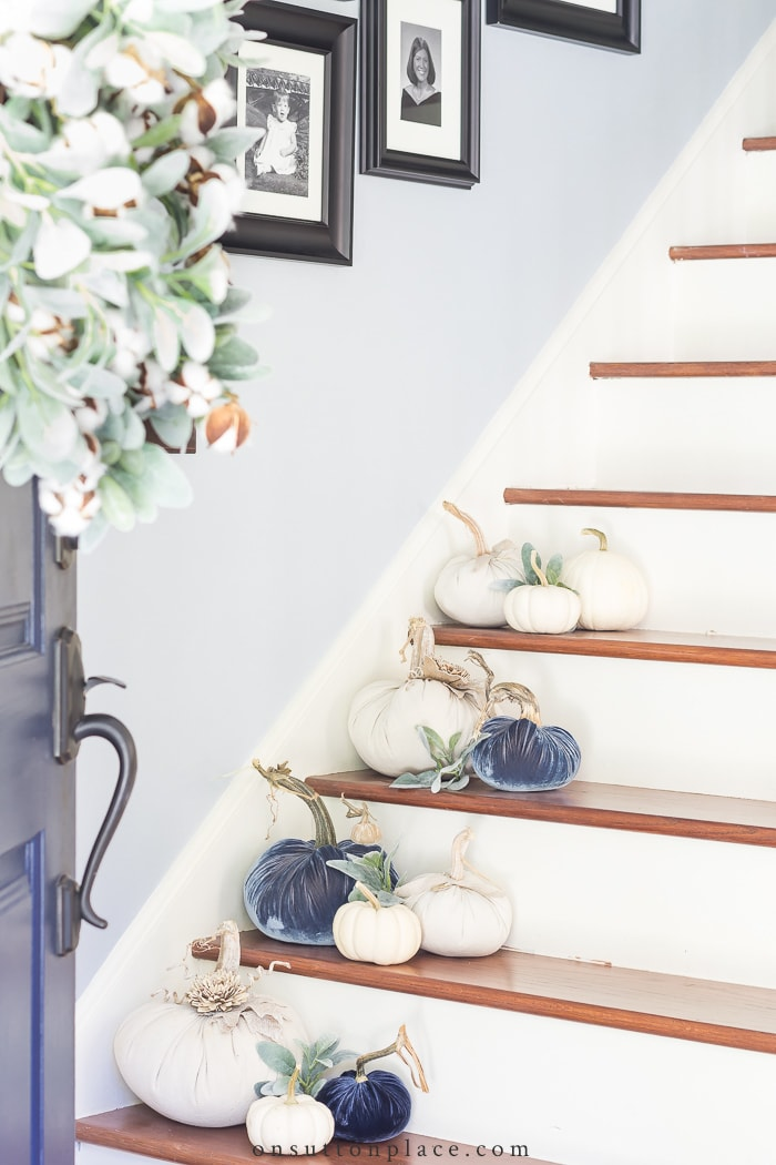 Fall Foyer Decorating from On Sutton Place