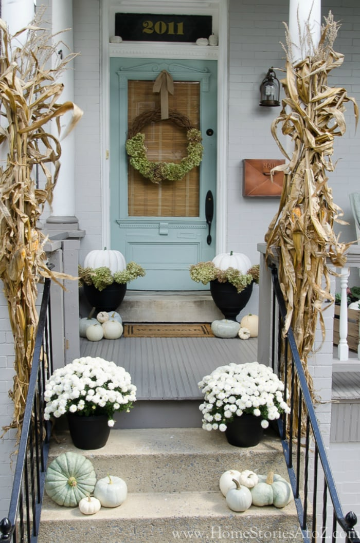 Home Stories Blue Pastel Farmhouse Porch