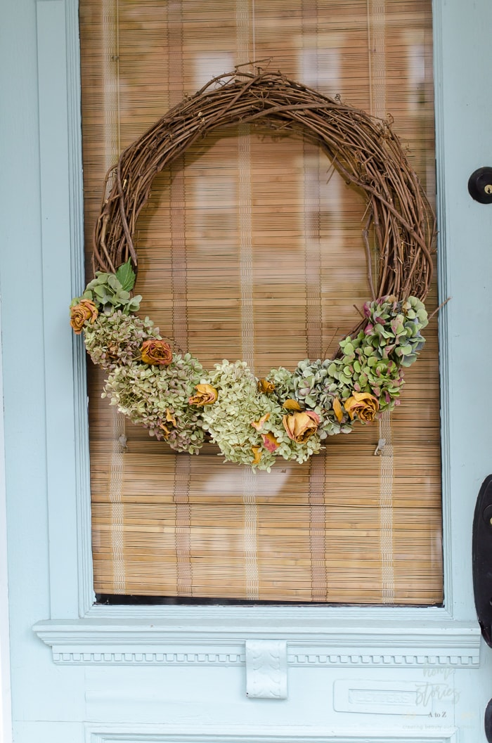 Home Stories DIY Fall Dried Hydrangea Wreath