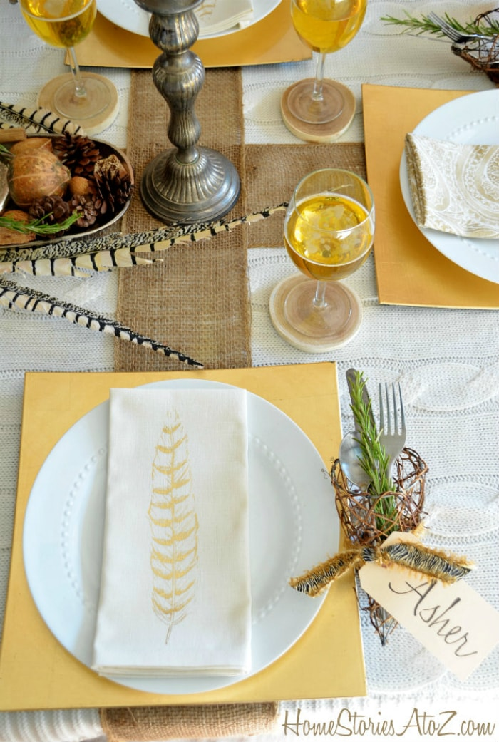 Home Stories natural elements thanksgiving table