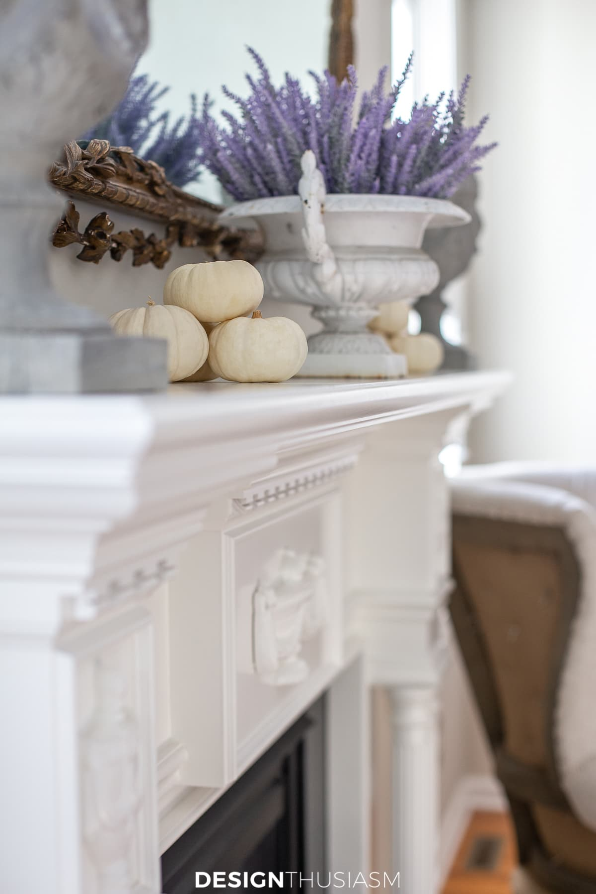 Thanksgiving decor mantel