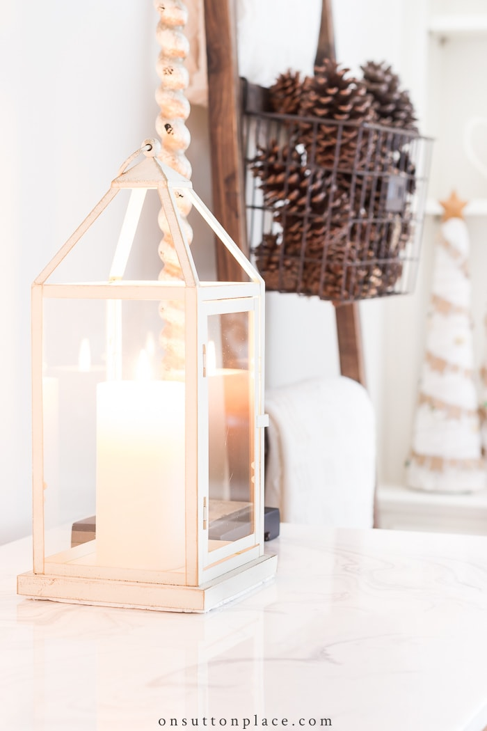 Transitioning from Fall to Christmas Decor from On Sutton Place