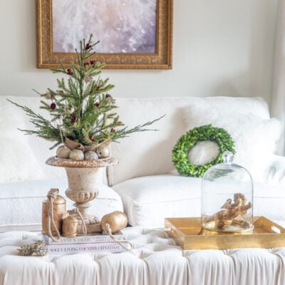 Mini Christmas Tree: Super Easy Holiday Living Room Decor