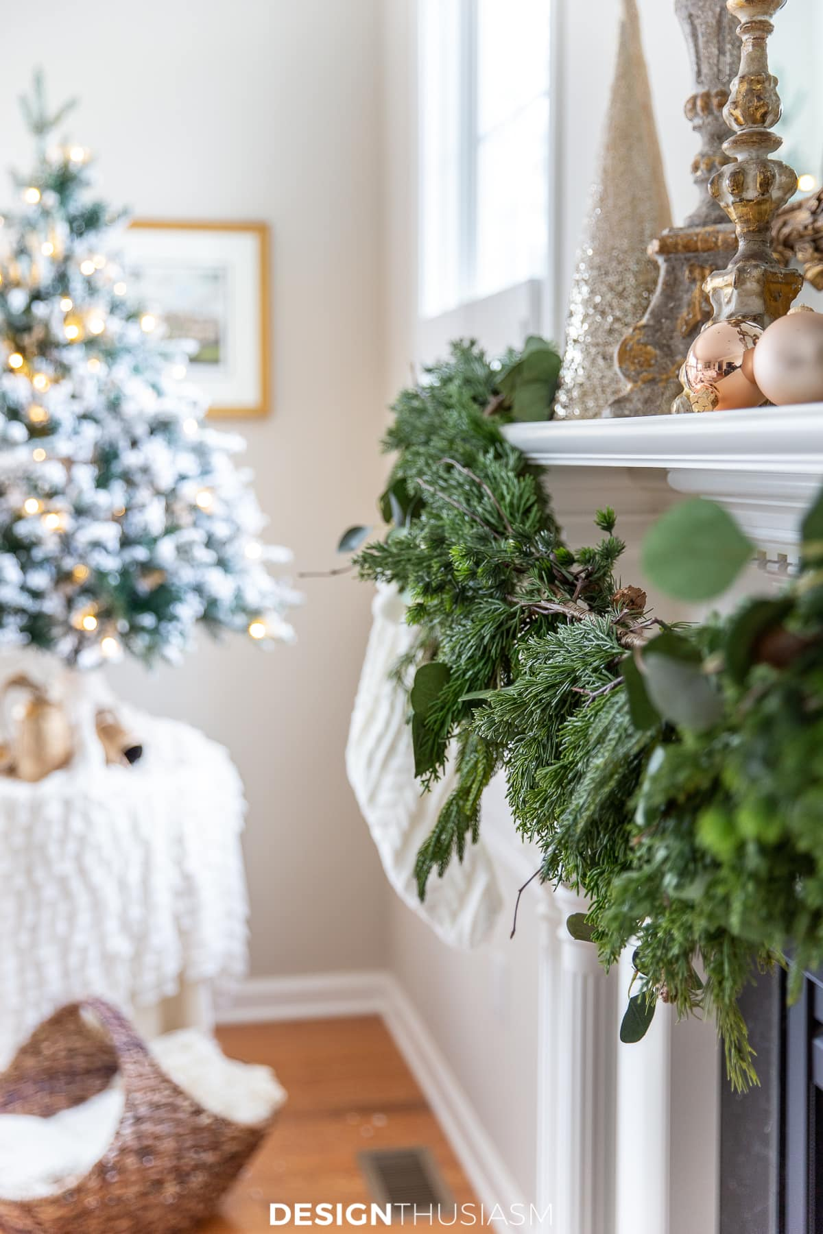 Christmas mantel decor garland