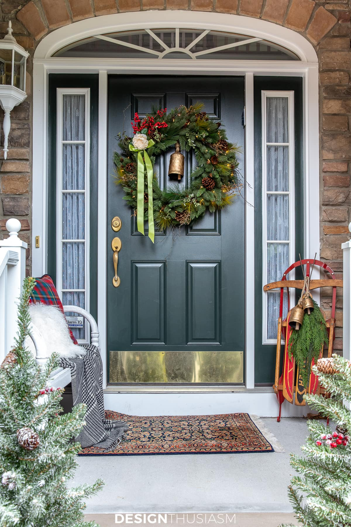 Christmas porch entryway decorations