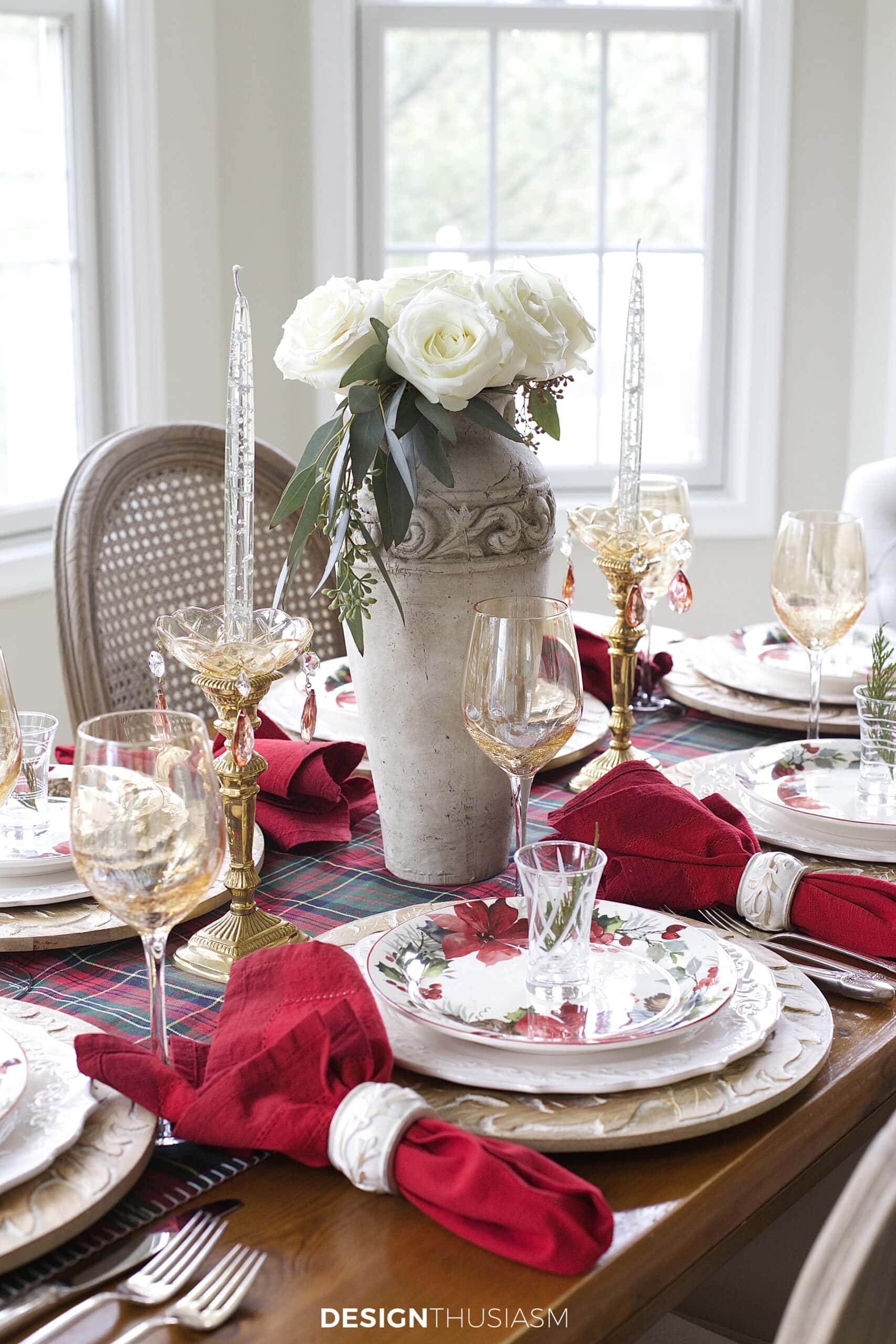 cozy and casual Christmas table