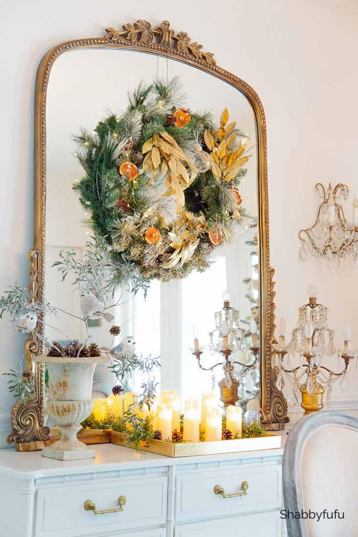Shabbyfufu | Christmas Dining Room - Gilded Flair