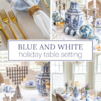 blue and white china holiday table decorations