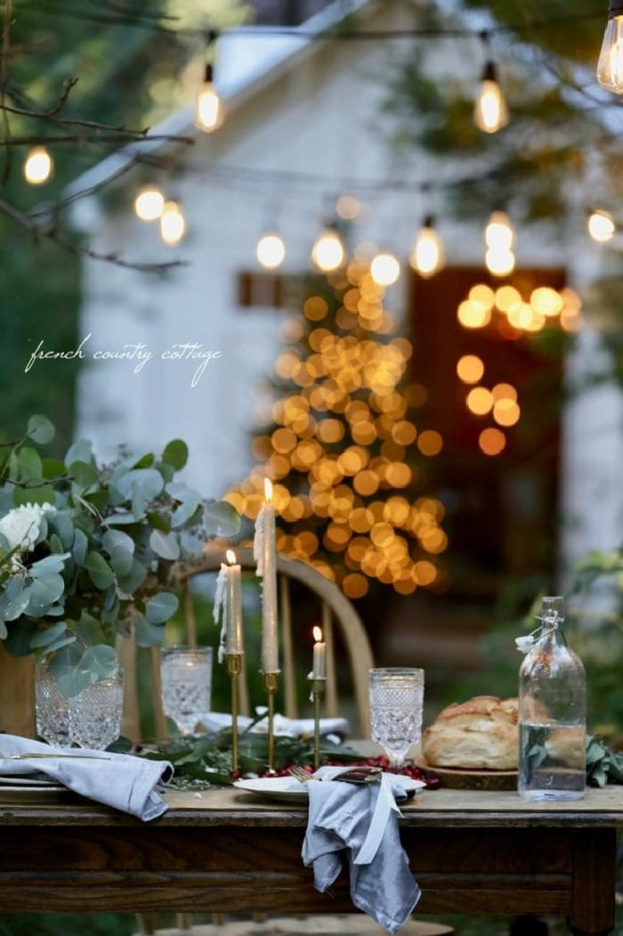 Holiday Table Idea French Country Cottage